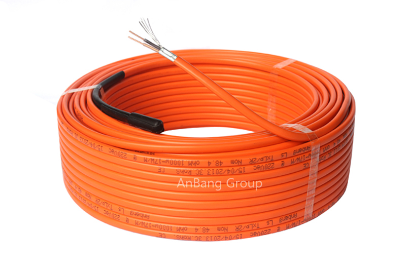 Underfloor heating cable twins conductor 17w/m orange