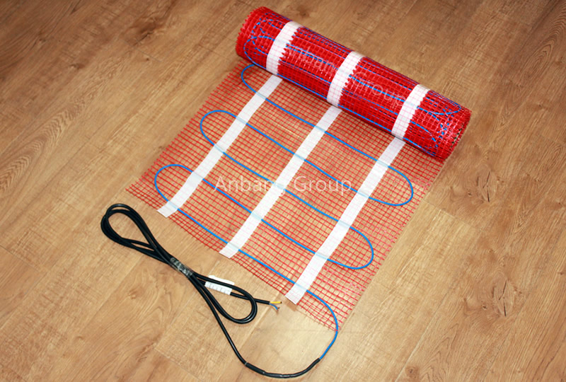 Standard Output 150w ㎡ Electric Underfloor Heating Mat Red